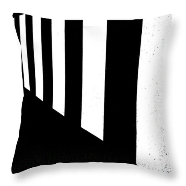 Crosswalk Throw Pillow by Bob Orsillo