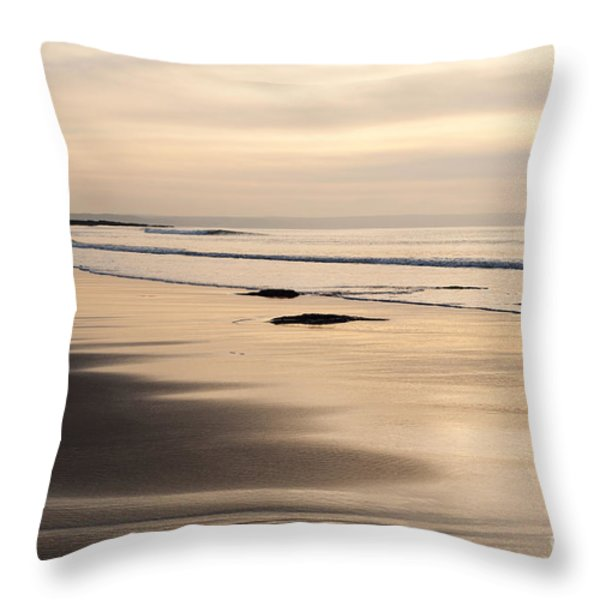 Croyde At Dusk Throw Pillow by Anne Gilbert