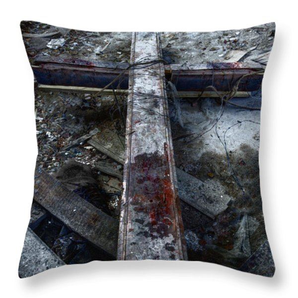 Crucifixion Throw Pillow by Margie Hurwich