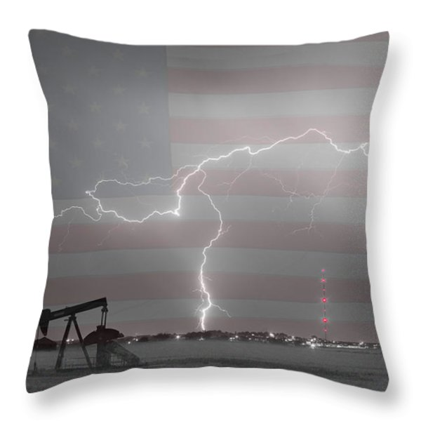 Crude Oil and Natural Gas Striking Across America BWSC Throw Pillow by James BO  Insogna