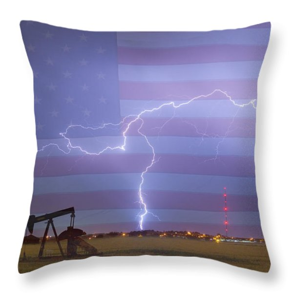 Crude Oil And Natural Gas Striking Across America Throw Pillow by James BO  Insogna