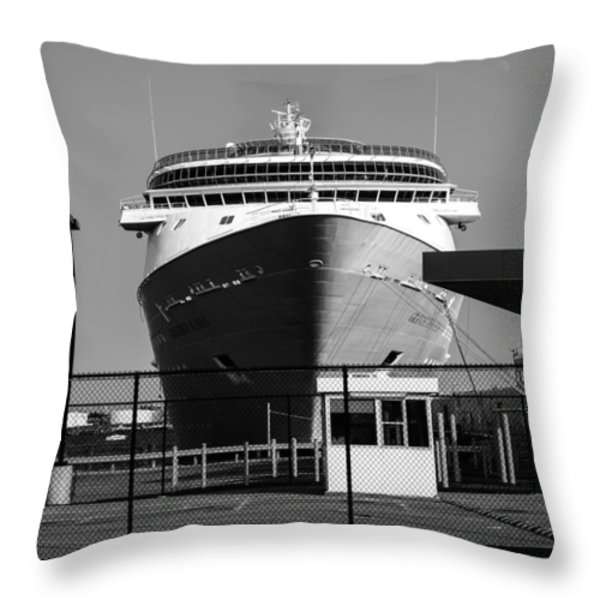 Cruise Ship Still Life Throw Pillow by Bob Orsillo