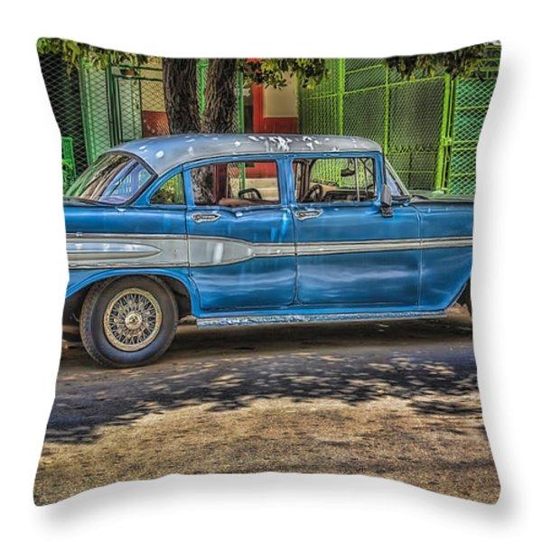 Cruisin Havana Throw Pillow by Erik Brede