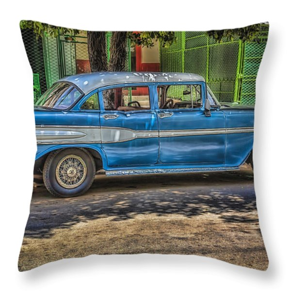 Cruisin Havana Throw Pillow by Erik Brede