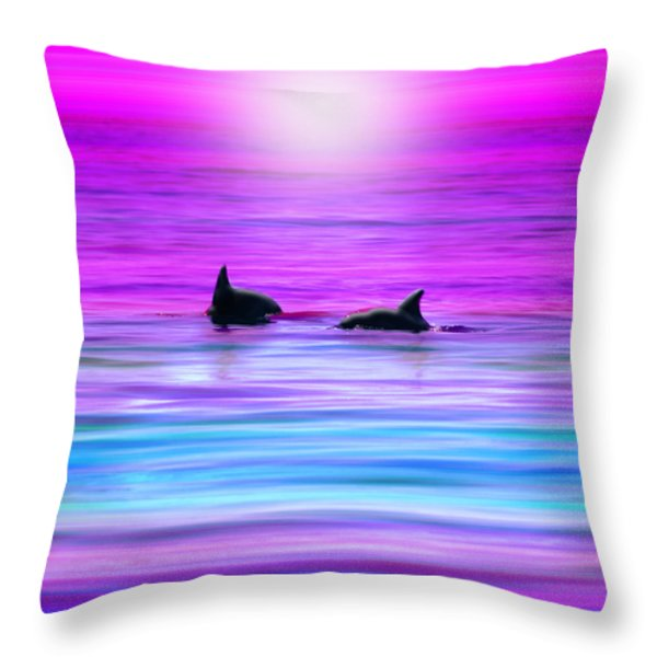 Cruisin' Together Throw Pillow by Holly Kempe