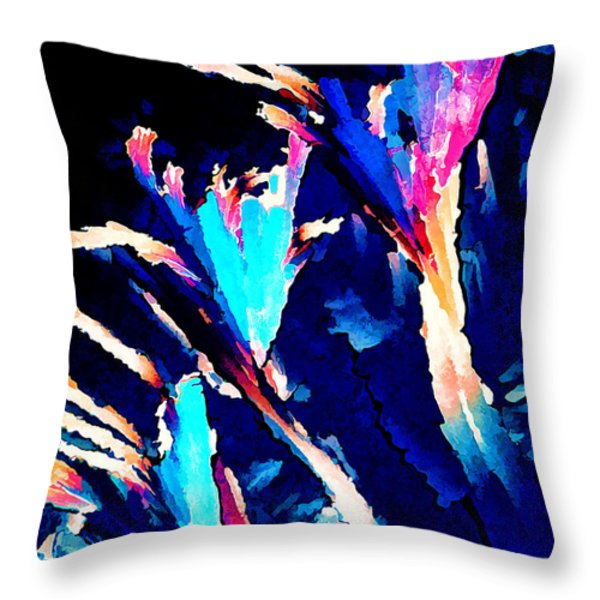 Crystal C Abstract Throw Pillow by Bill Caldwell -        ABeautifulSky Photography