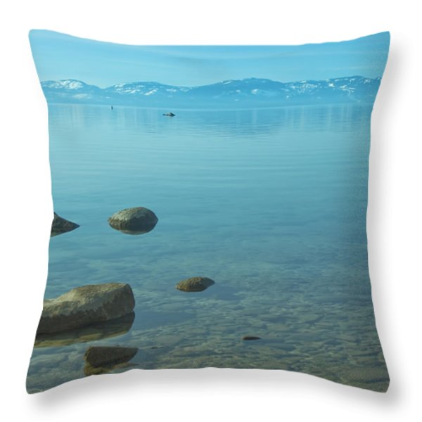Crystal Clear Lake Tahoe Throw Pillow by Kim Hojnacki