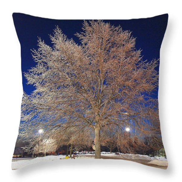 Crystal Tree Throw Pillow by Frozen in Time Fine Art Photography