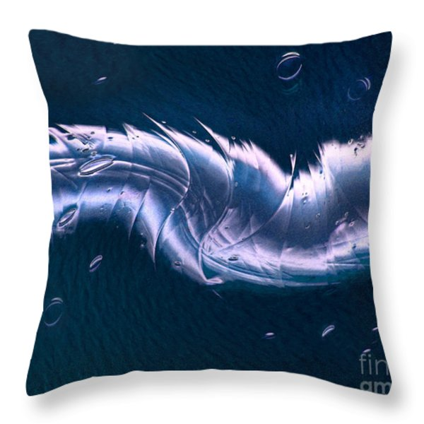 Crystalline Entity Throw Pillow by Peter Piatt