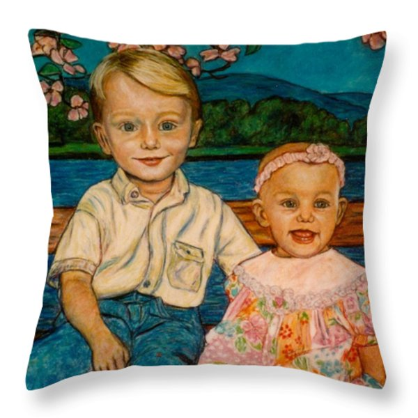 Crystal's Children Throw Pillow by Kendall Kessler