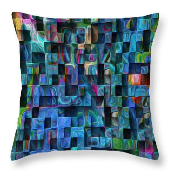 Cubed 3 Throw Pillow by Jack Zulli
