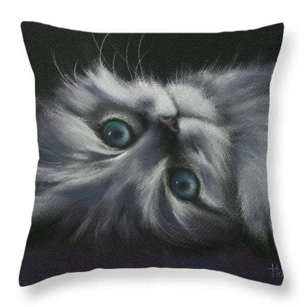 Cuddles Throw Pillow by Cynthia House