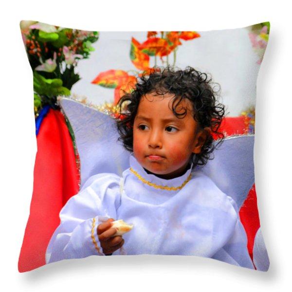 Cuenca Kids 215 Throw Pillow by Al Bourassa