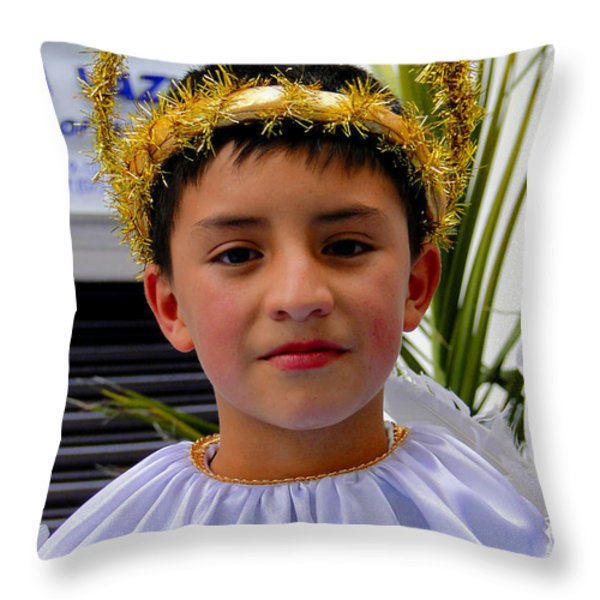 Cuenca Kids 218 Throw Pillow by Al Bourassa