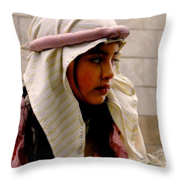 Cuenca Kids 335 Throw Pillow by Al Bourassa