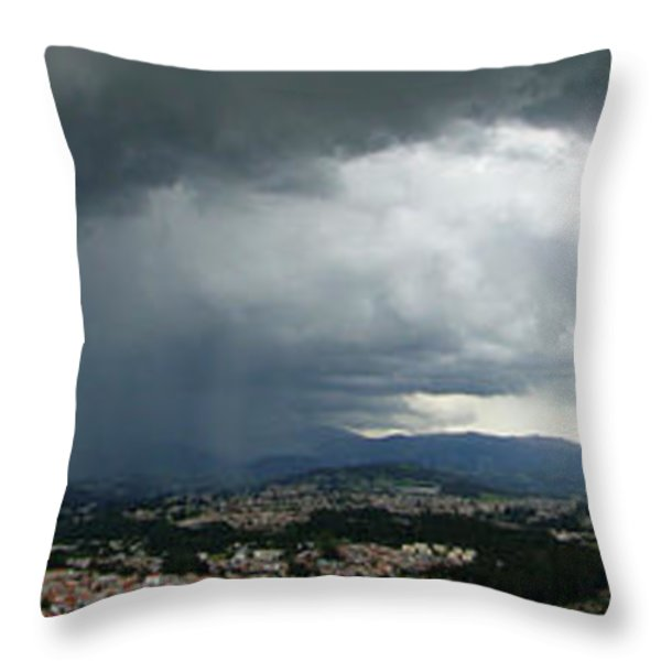 Cuenca Storm Panorama Throw Pillow by Al Bourassa