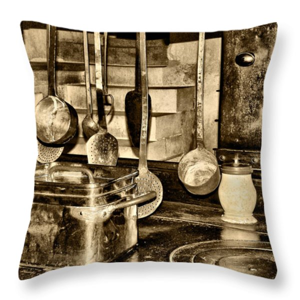 Cuisine at Chenonceau Throw Pillow by Nikolyn McDonald