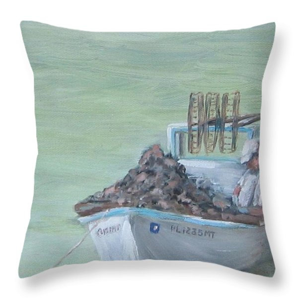 Culling The Catch Throw Pillow by Susan Richardson