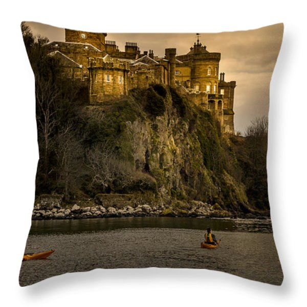 Culzean Castle Scotland Throw Pillow by Alex Saunders