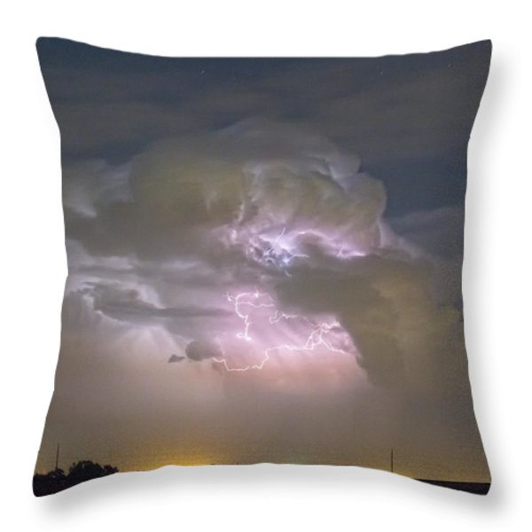 Cumulonimbus Cloud Explosion Portrait Throw Pillow by James BO  Insogna