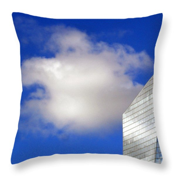 Cumulus and Cira Throw Pillow by Lisa  Phillips