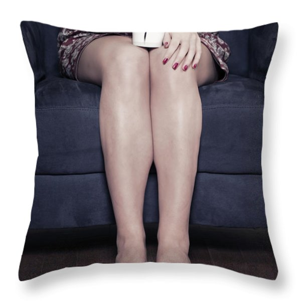 cup of coffee Throw Pillow by Joana Kruse