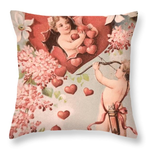 Cupid Throw Pillow by M and L Creations