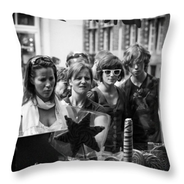 Curiosity Throw Pillow by Dave Bowman