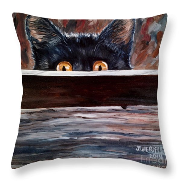 Curiosity Throw Pillow by Julie Brugh Riffey