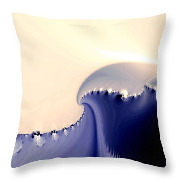 Current Throw Pillow by Kevin Trow