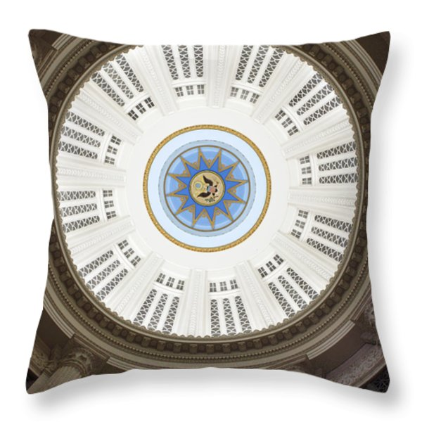 Custom House Tower Ceiling Boston Throw Pillow by Norman Pogson