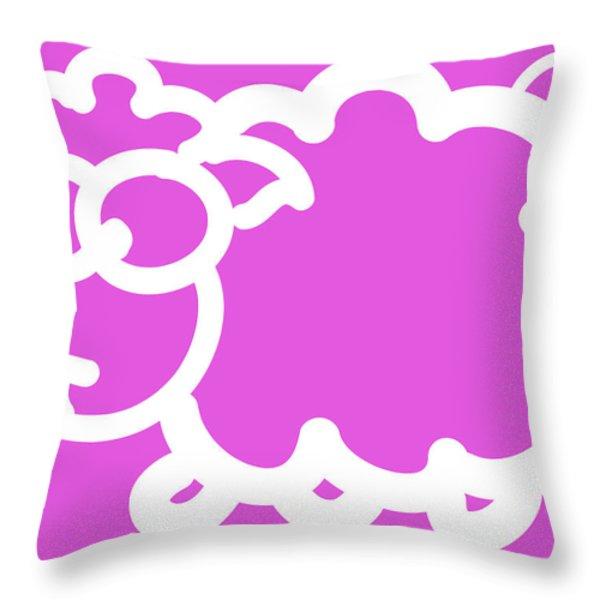 Cute Little Lamb Throw Pillow by Nursery Art