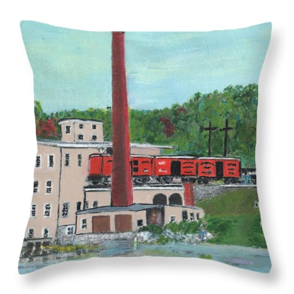 Cutler's Mill - Circa 1870 Throw Pillow by Cliff Wilson