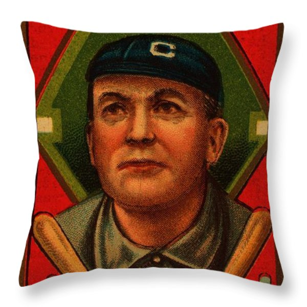 Cy Young 1911 Baseball Card Throw Pillow by Movie Poster Prints