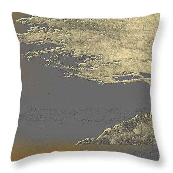 Cypress Tree On Beach Throw Pillow by Linda  Parker