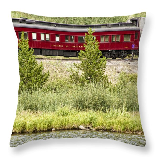 Cyrus K  Holliday Private Rail Car Throw Pillow by James BO  Insogna