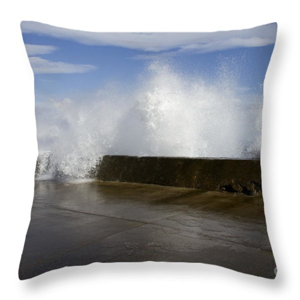 Da Wave Throw Pillow by Sharon Mau