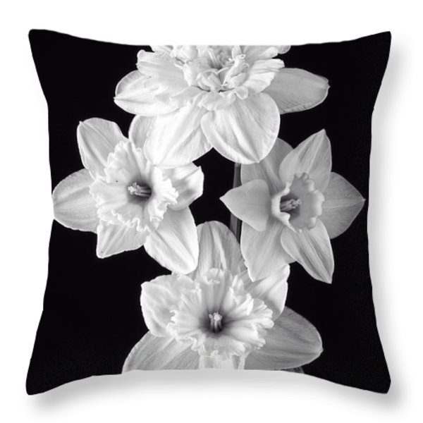 Daffodils Throw Pillow by Edward Fielding