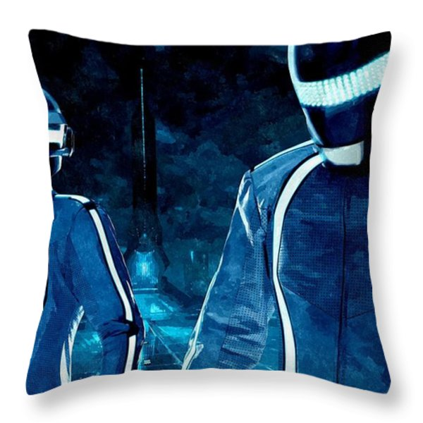 Daft Punk In Tron Legacy Throw Pillow by Florian Rodarte