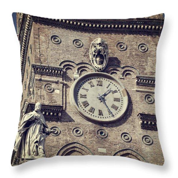 Daily Rhythms Throw Pillow by Joan Carroll