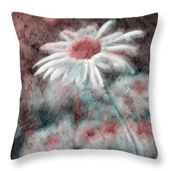 Daisies ... again - p11ac2t1 Throw Pillow by Variance Collections