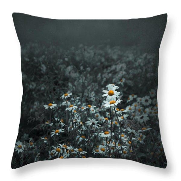 Daisies-daisies Throw Pillow by Svetlana Sewell