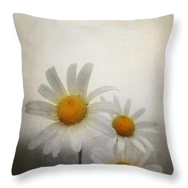 Daisies Throw Pillow by Svetlana Sewell