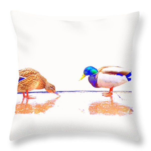 Daisy And You Throw Pillow by Hilde Widerberg