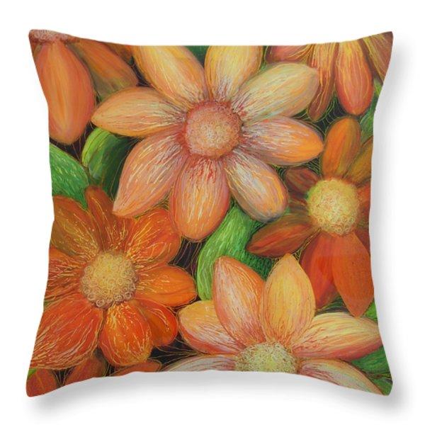 Daisy Bouquet Throw Pillow by Anna Skaradzinska