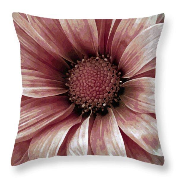 Daisy Daisy Blush Pink Throw Pillow by Angelina Vick