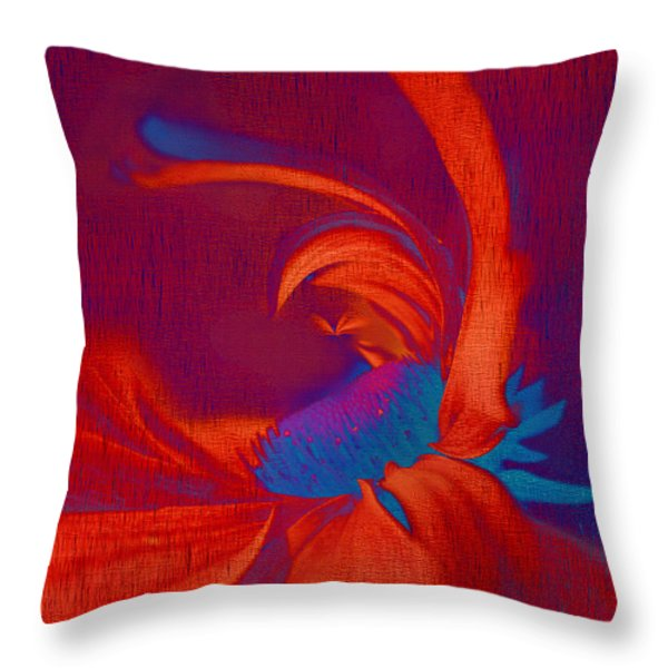 Daisy Fun - A03ct02 Throw Pillow by Variance Collections