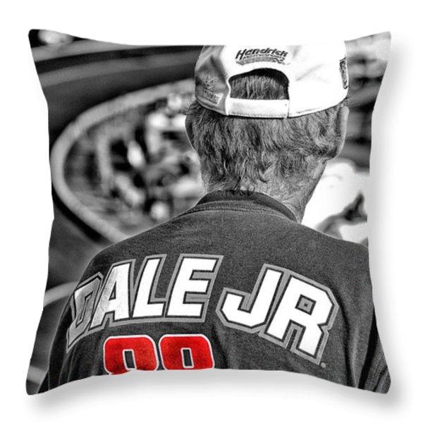 Dale Jr Throw Pillow by Karol  Livote
