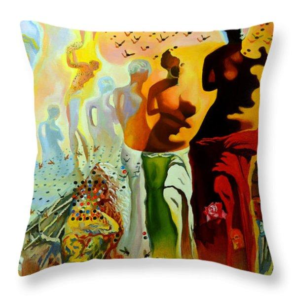 Dali Oil Painting Reproduction - The Hallucinogenic Toreador Throw Pillow by Mona Edulesco