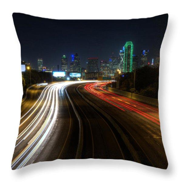 Dallas Night Light Throw Pillow by Jonathan Davison